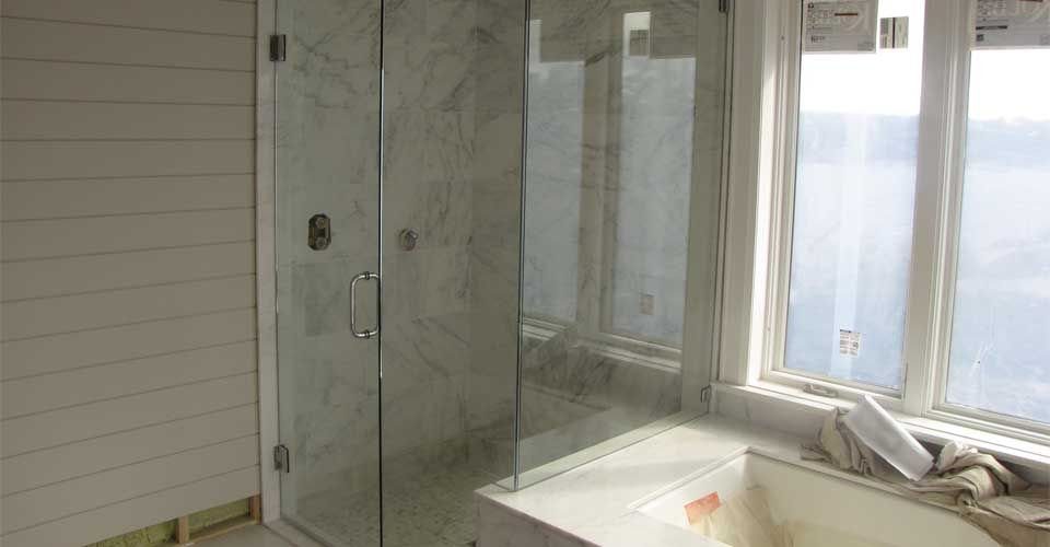shower next to wall with ridges