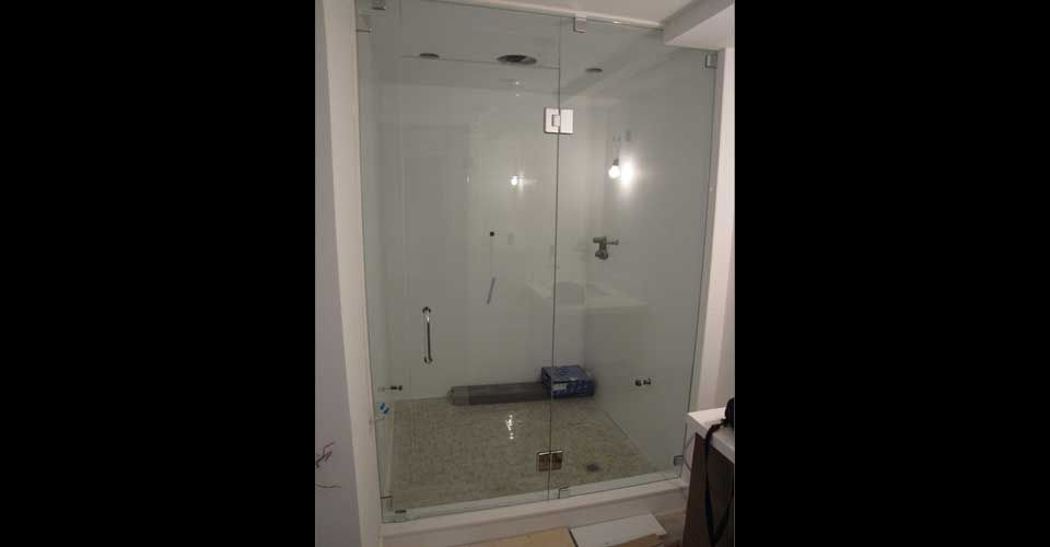 large square shower