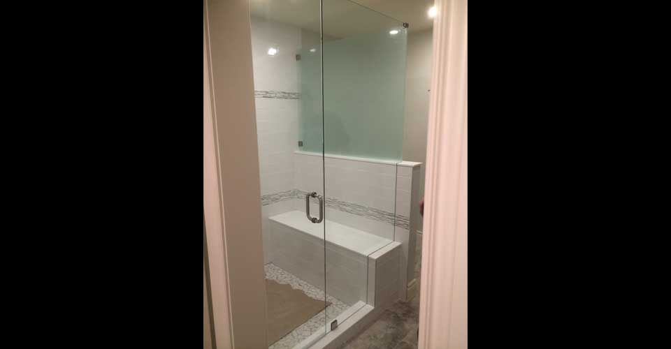 shower with a seat