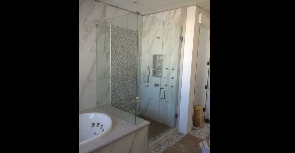 shower attached to tub
